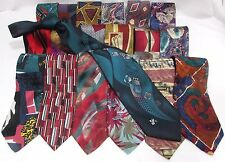 NEW Mens Lot of 3 Brand Name Silk & Other Colorful & Boldl Mix of Necktie Ties
