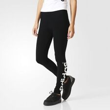 NEW + TAGS * ADIDAS * BLACK FIRM JERSEY FULL LENGTH LOGO LEGGINGS SIZE L RRP £69