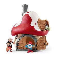 Schleich The Smurfs | Smurf House with 2 Figurines | Schleich 20803 | Quality