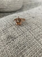 Morganite Rose Gold Ring Size 7.5 Plated
