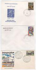 République centrafricaine 3 FDC enveloppes timbres 1er jour /FDC123