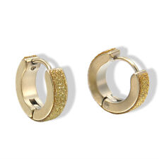 1 Pairs Fashion Women/Men Stainless Steel Hoop Earrings Circle Round Jewelry