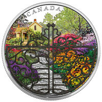 2017 Canada Enchanted Garden 2 oz Silver Proof $30 W/Filigree Gate OGP SKU48832