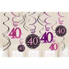 Festoni, ghirlande e striscioni rosa in plastica compleanno adulto per feste e party