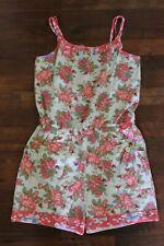 Matilda Jane Happy & Free Backyard BBQ Romper Size 14 Floral Shorts One-Piece