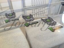 3 Authentic Monster Army Energy Drink Athlete Sponsor 2-in-1 Sticker Decal BMX