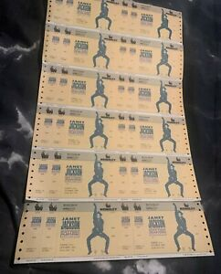 UNUSED CONCERT TICKETS JANET JACKSON RHYTHM NATION 1990 38 IN TOTAL