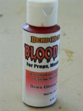 HALLOWEEN HORROR PROP - 2 oz Flexible Blood Stain for Masks, Props and Scenes.