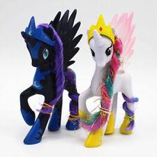 2 PCS My Little Pony White Princess Celestia LUNA NIGHEMARE MOON Figure Toys
