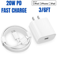 20W Fast Charger Wall Adapter PD USB C Charging Cable For iPhone 12 11 Pro