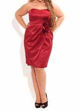 City Chic Rosette Ruby Red Formal Dress Plus Size S RRP $159.95