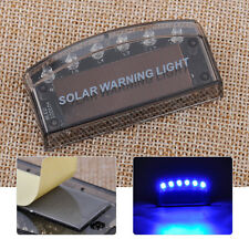Car Auto 6 LED Burglar Alarm Solar Warning Flash Sensor Energy Security Light