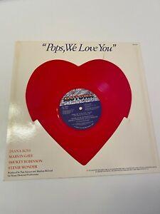 POPS WE LOVE YOU RED HEART SHAPED VINYL GAYE WONDER ROBINSON ROSS