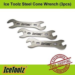 IceToolz Steel Hub Cone Wrench Set (37x3 ) 13/14/15/16/17/18mm - Bike Hand Tool