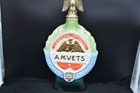 Vtg 1970 AMERICAN VETERANS (AMVETS) 25th Anniversary of WWII Jim Beam Decanter