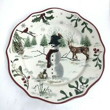 """Better Homes and Gardens """"Winter Forest"""", Salad Plates - Snowman"""