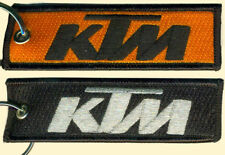 Ktm embroidered key chain, for motorcycles, dirt bikes, Orange, Black, Silver