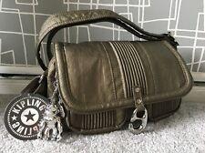 BNWT Kipling Bronze Hip Chilly H Shoulder Cross Body Mini Messenger Handbag