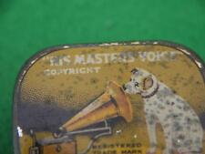 ANTIQUE HMV HIS MASTERS VOICE DOG GRAMOPHONE NEEDLE TIN + LINER & CONTENT