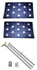3x5 Washington Headquarters Hq 2ply Flag Aluminum Pole Kit Set 3'x5'