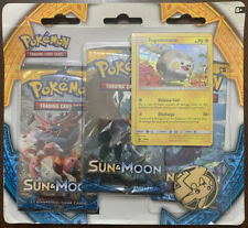 POKÉMON 3 SUN & MOON BOOSTER PACKS COLLECTORS COIN & TOGEDEMARU CARD NEW BLISTER