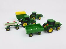 Ertl Collect and Play John Deere tractors and wagons lot