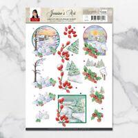 Amy Design 3D Diecut Decoupage Set A4 Sheet - Christmas Wishes Landscapes 1