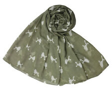 The Olive House® Womens Poodle Dog Scarf Green