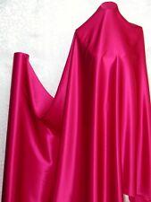 Pure Silk Charmeuse Fabric Solid Deep Pink per Yard