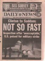 Daily News November 15 1998 Bill Clinton Rudy Giuliani Red Holzman 041520DBE