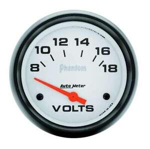 Auto Meter 2-5/8in Phantom Voltmeter 8-18 Volts