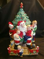 FITZ & FLOYD 2007 WINTER HOLIDAY SANTA 3D COOKIE JAR COLLECTORS CORNER - RARE