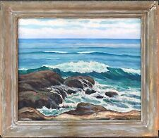 Rose Schneider Seascape Painting La Jolla California Plein Air Listed 20x24
