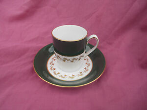 Spode GREEN VELVET Coffee Cup and Saucer.