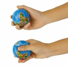World Map Foam Earth Globe Stress Relief Bouncy Ball Atlas Geography Toy TH092 N