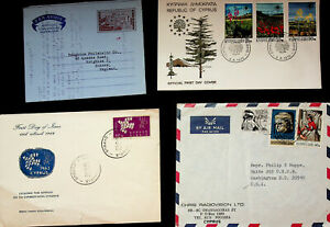 CYPRUS EUROPA FLOWERS ART MOTHER & CHILD 7v ON 3 COVERS+AEROGRAMME TO USA