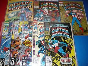 Lot of 8 CAPTAIN AMERICA, Marvel Comics, 1991-93 (see description)