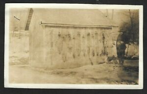 1920's Trapper with Dog and Display of Skins Original Photograph