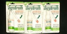 LOT of 3 THERABREATH Fresh Breath Throat Spray 1 oz Bottles Pack New in Package