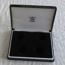 ROYAL MINT DARK GREEN PRESENTATION BOX FOR 4 X £1 COINS