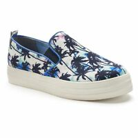 NIB Women's Juicy Couture NICKY Palm Tree Slip-On Sneakers Shoes Asher Caelyn