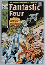 ESS101. FANTASTIC FOUR No. 114 by Marvel Comics 7.0 FN/VF (1971) OVER-MIND>