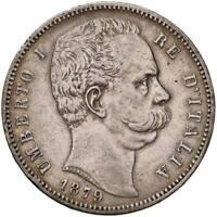 s1063) Regno Umberto I (1878-1900) Scudo 5 lire 1879