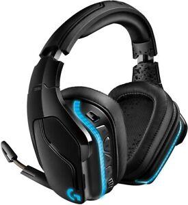 Logitech G935 Headband Gaming Headset Black/Blue Wireless DTS:X 7.1 Surround