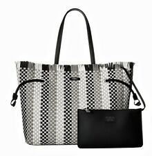 Furla Bag Stacy Casanova M Tote Bag With Clutch Made of Braided Leather New