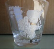 Set of 4 Etched Pharmacy Glasses William Procter Jr. 1817-1874 Secundem Artem Rx