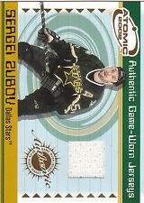 2001/2 Atomic Game Worn Jersey card Sergei Zubov Stars