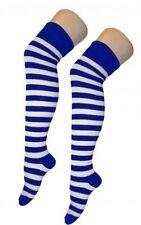 Stivali al ginocchio Blu E Bianco Marinaio Stile Libro Settimana Calzini a Righe Festa