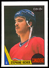 1987 88 OPC O PEE CHEE HOCKEY #233 STEPHANE RICHER MONTREAL CANADIEN RC