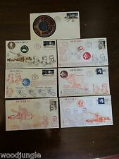 7  Vintage SKYLAB SATELLITE  FIRST DAY OF ISSUE POSTAGE STAMPS STAMP
